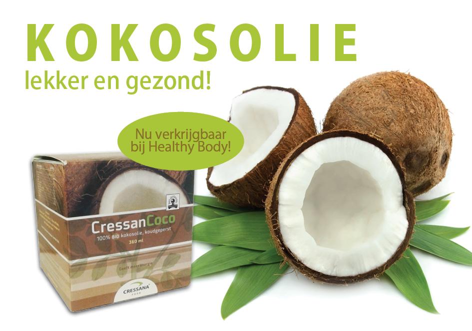 Kokosolie is een uiterst gezond bakmiddel bij Healthy Body!